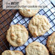 the BEST classic peanut butter cookie recipe from nelliebellie.com peanut butter cookies, classic cookies, peanut butter recipes