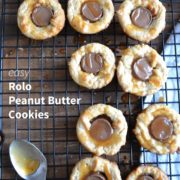 easy Rolo cookies that are gluten-free and only 5 ingredients. A tasty Christmas Cookie for your holiday baking!