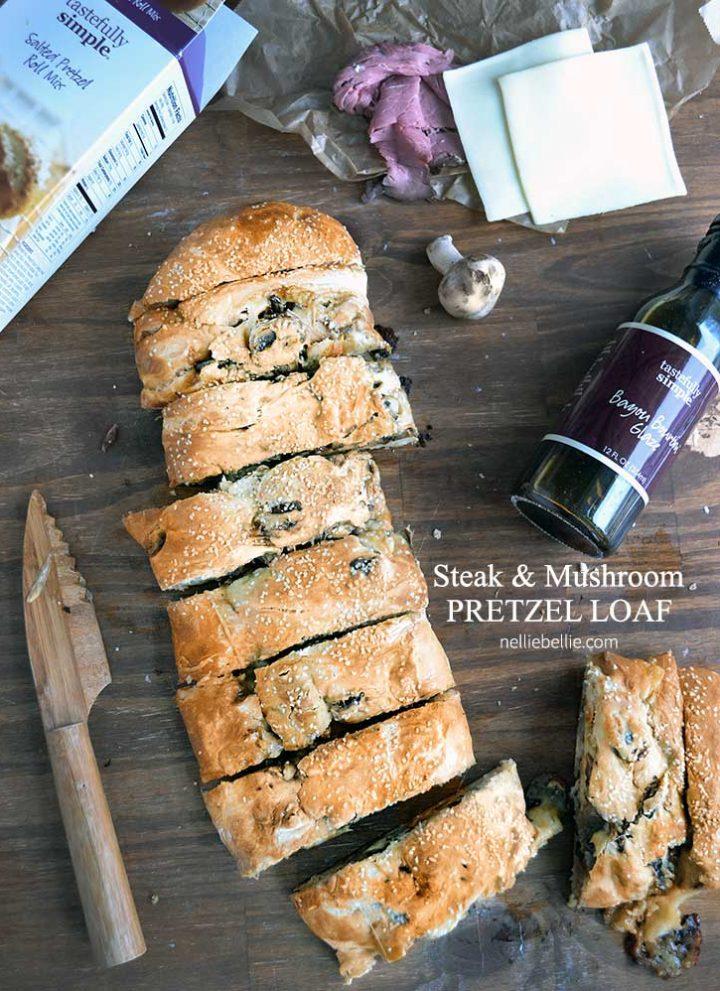Steak and Mushroom Pretzel Loaf