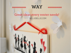 Renter friendly ideas for hanging pictures and art that won't make your landlord angry. from www.nelliebellie.com