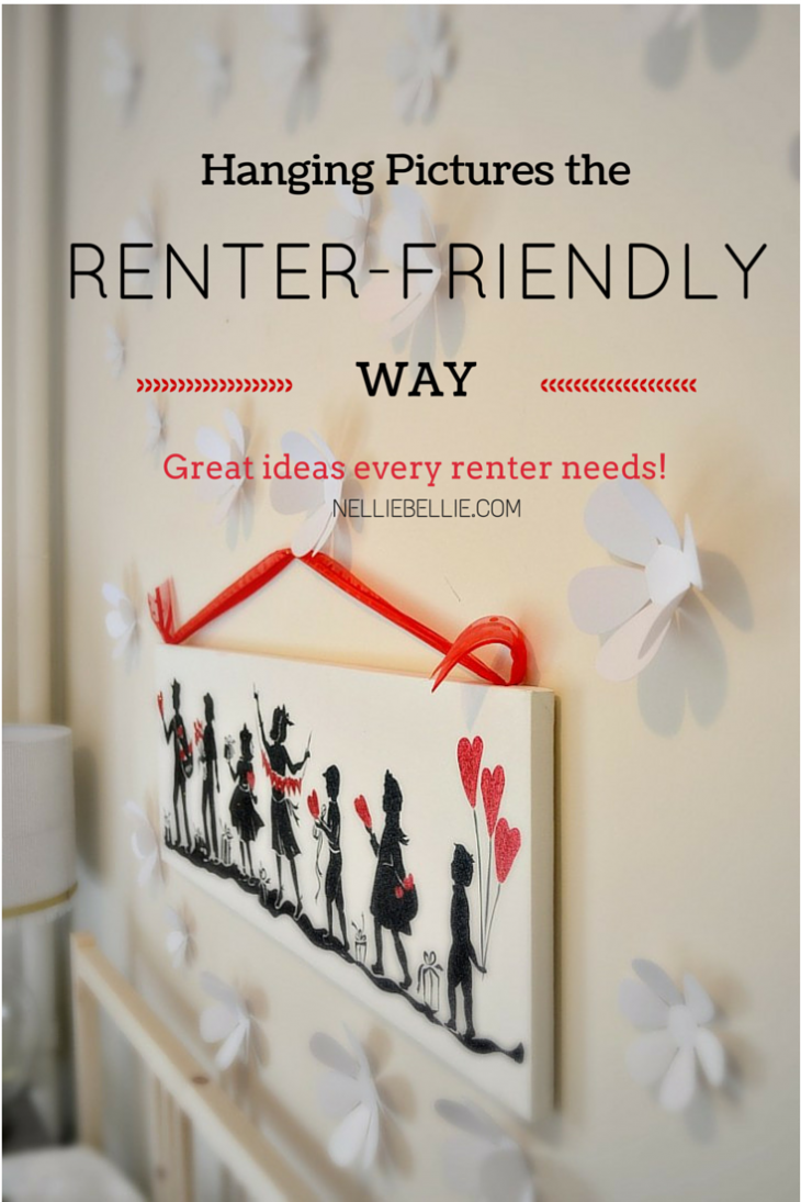 Renter friendly picture hanging ideas for hanging pictures and art that won't make your landlord angry. from www.nelliebellie.com