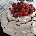 This chocolate pavlova recipe is simple and delicious!