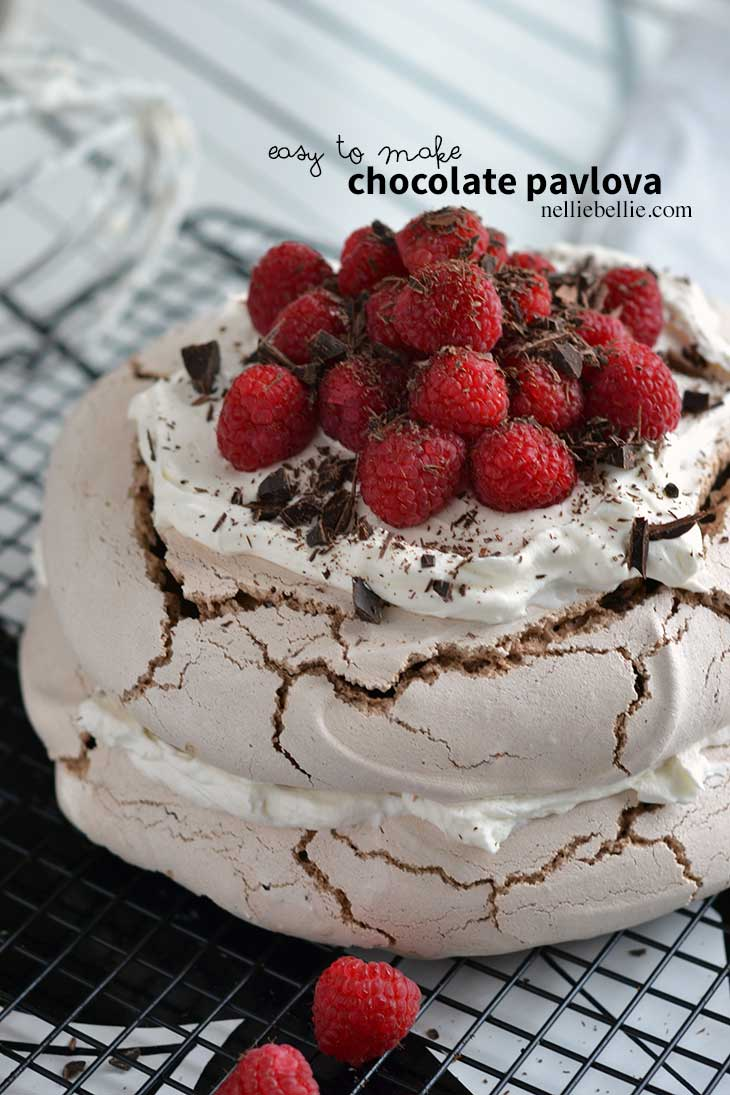 This homemade chocolate pavlova recipe is a simple and easy recipe ...