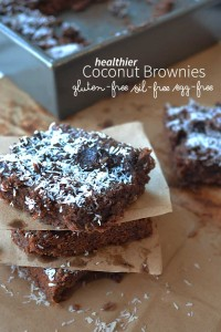 These healthier brownies are made with almond flour, dates, and coconut so they are gluten free and full of vitamins! Don't be afraid to try these coconut brownies, even if you don't have dietary restrictions; you'll love them!
