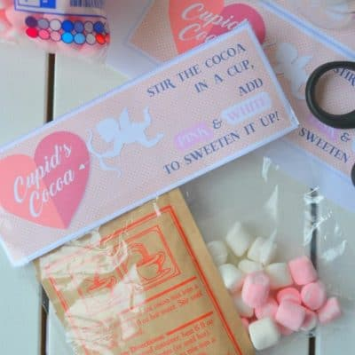 Quick & Easy Cupid's Cocoa (free printable)