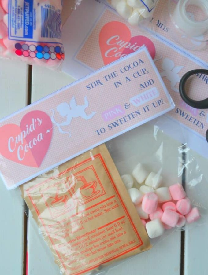 Cupid's Cocoa! An easy printable to create this tasty Valentine.