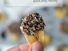 These chocolate dipped banana chips are a great simple and healthy snack.healthy snack ideas