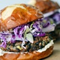 easy Veggie burgers that are fast, healthy, and delicious! A fast easy dinner for hte whole family. I LOVE that these are gluten-free veggie burgers! nelliebellie.com