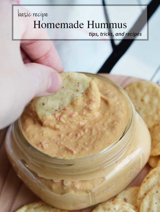 How to make homemade hummus basic recipe. healthy snack ideas