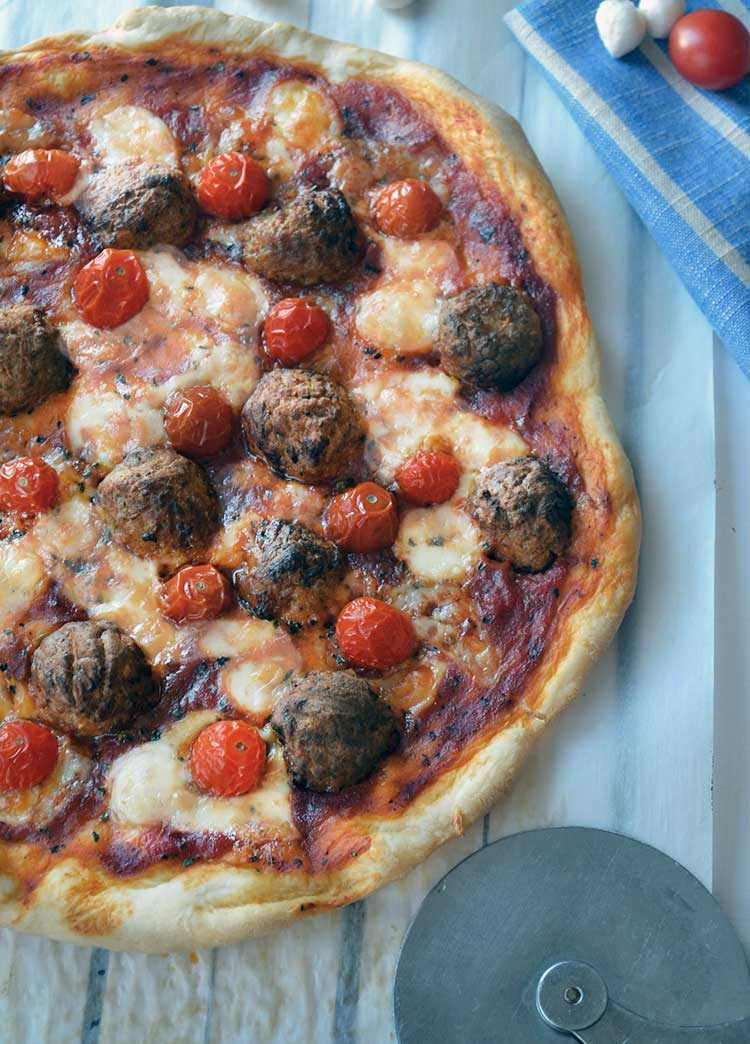 made a delicious meatball pizza recipe using Johnsonville® Meatballs ...