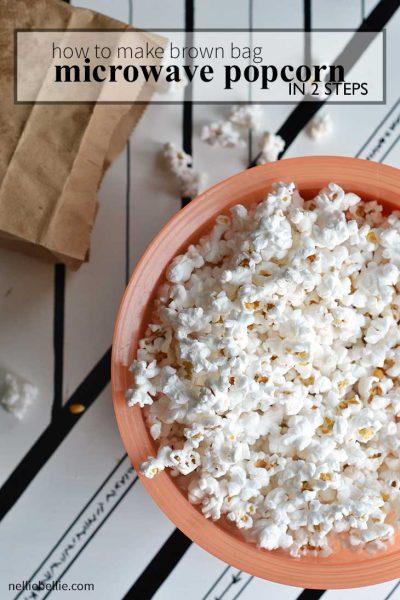 easy homemade microwave popcorn (busy mom hack)