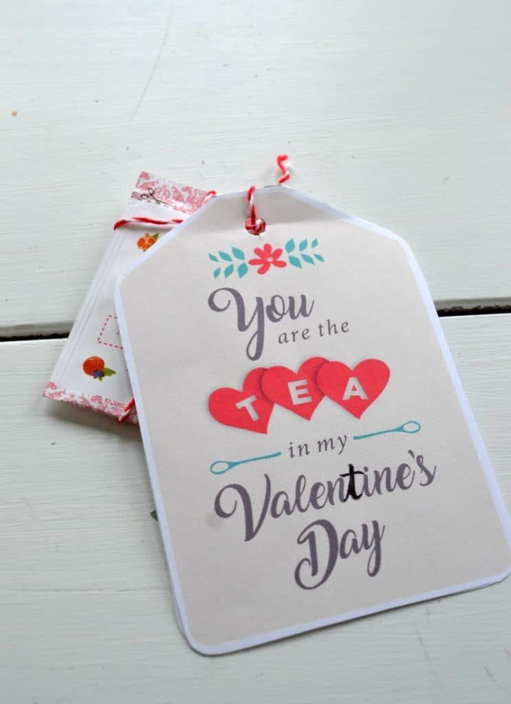 You are the tea in my ValenTine's Day! A cute printable that you can quickly print and attach to tea bags for a fast and easy DIY valentine.