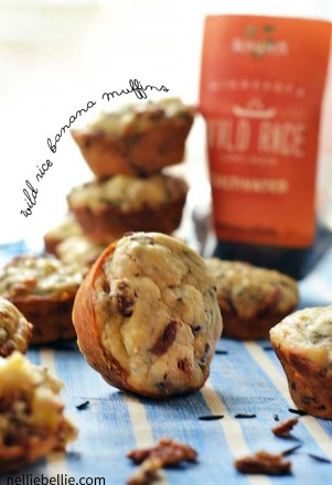 wild rice banana muffins are a fun and interesting twist on the traditional banana bread. Easy to make and a great way to get more whole grains in your diet!