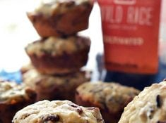 Wild Rice Banana muffins are a fun and unique take on the traditional banana bread.