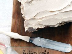 Butter Cake with browned butter buttercream. An easy classic cake and frosting recipe. #ad