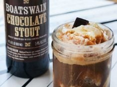 Chocolate stout float is easy to make and delicious! A great adult beverage.