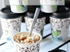 homemade portable instant oatmeal cups are easy to make and fast to eat! A great fast and healthy breakfast solution. An instant oatmeal recipes are so close, you can use one and just tweak it!