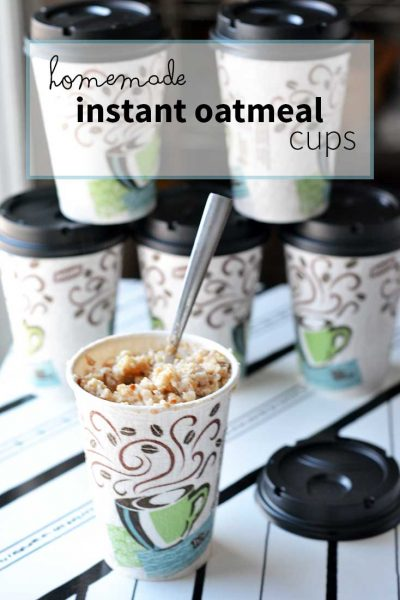 How to make Homemade Instant Oatmeal Cups