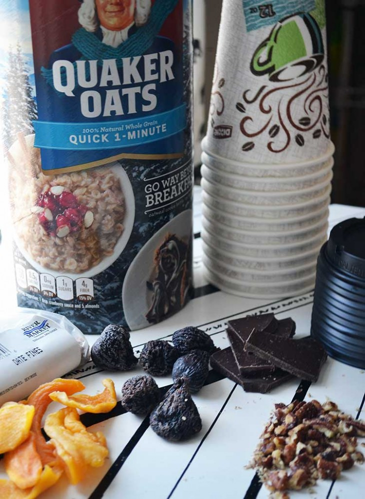 homemade portable instant oatmeal cups are easy to make and fast to eat! A great fast and healthy breakfast solution.
