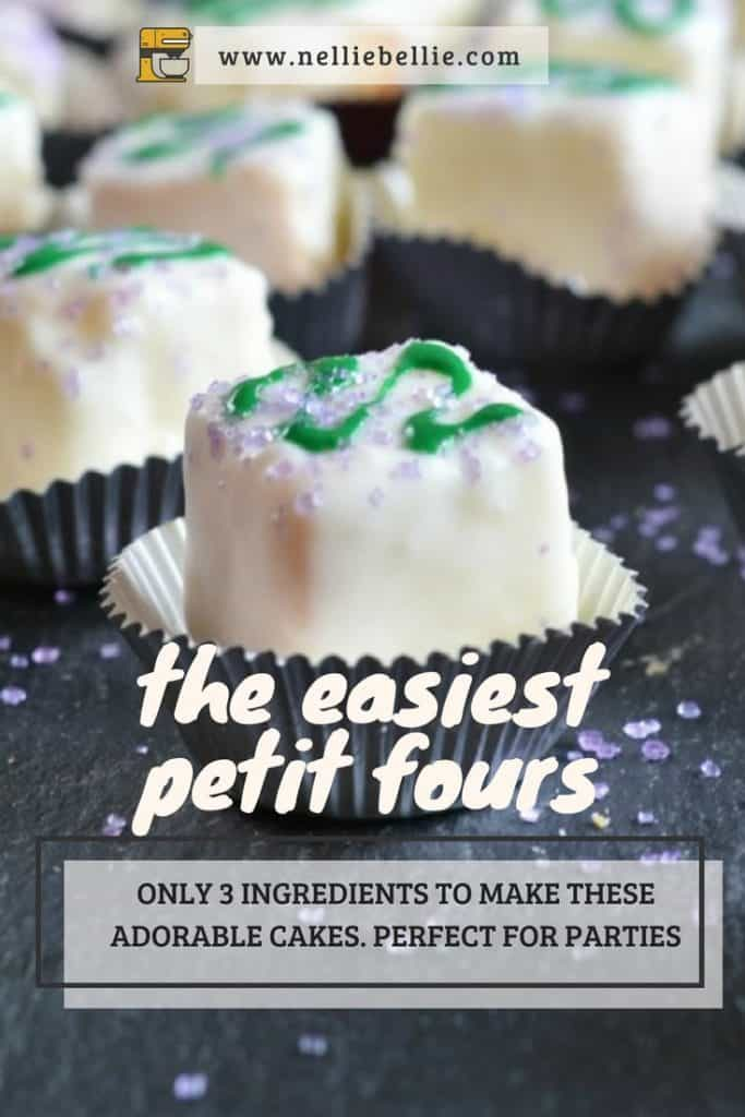 Easy to make with only 3 ingredients! Cute and perfect little cakes for parties.
