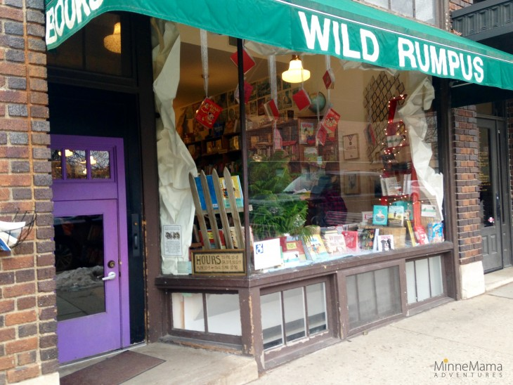 wild rumpus bookstore in Linden Hills, MN is a perfect location to bring your kids to experience books!