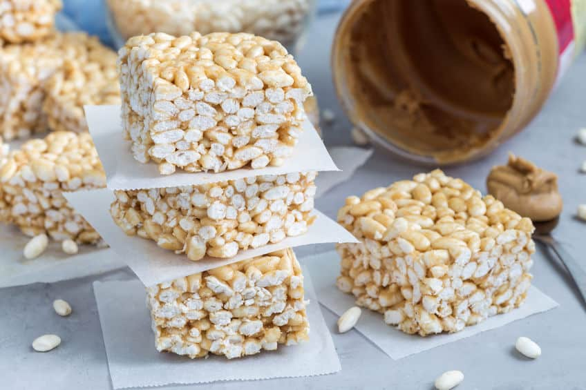3 ingredient Peanut Butter Rice Krispies