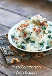 Irish Colcannon With Bacon (And Leftover Colcannon Cakes)