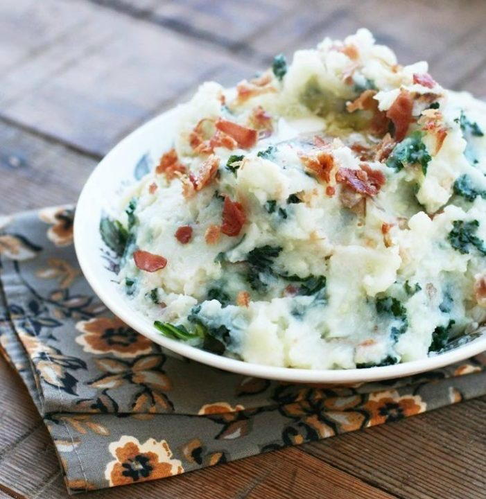 Irish Colcannon With Bacon recipe. Click through for instructions!