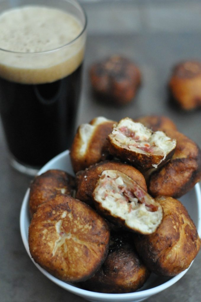 This recipe for Reuben Donuts is perfect, not only for St. Patrick's Day, but for anyone who loves corned beef! Take a stab at making these!