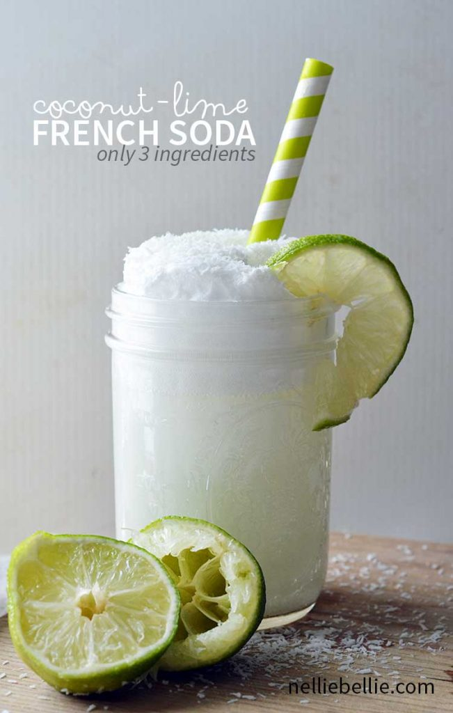 only 3 ingredients to make this creamy and refreshing French Soda