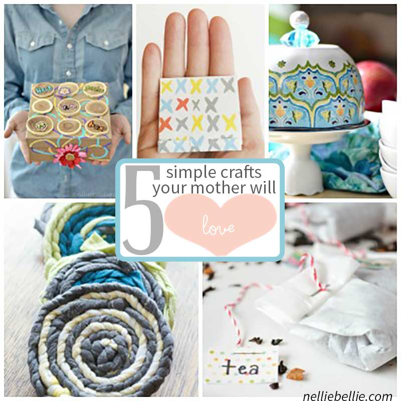 Try one of these 5 quick and easy crafts that are perfect for the moms in your life! Make great gifts for Mothers Day!