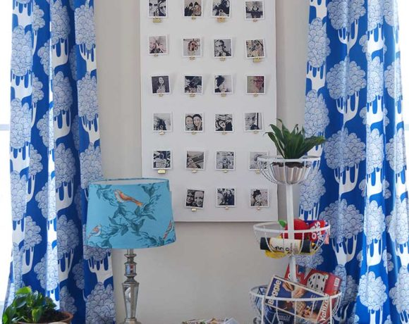 Make a renter friendly photo display for your wall. A easy tutorial with simple and easy to find materials. This is great for renters because you only need one nail and can hang alot of pictures!