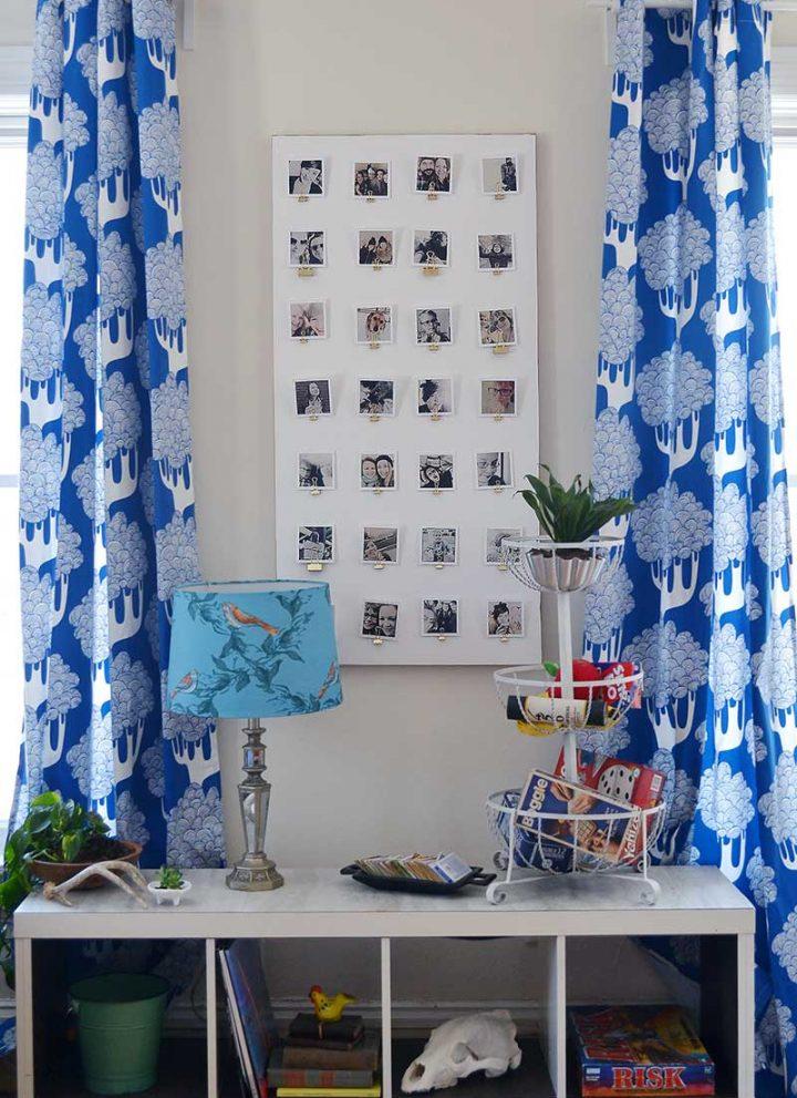 Renter-friendly Photo Display Idea