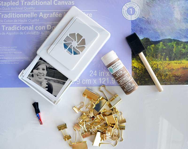 Photo display canvas materials