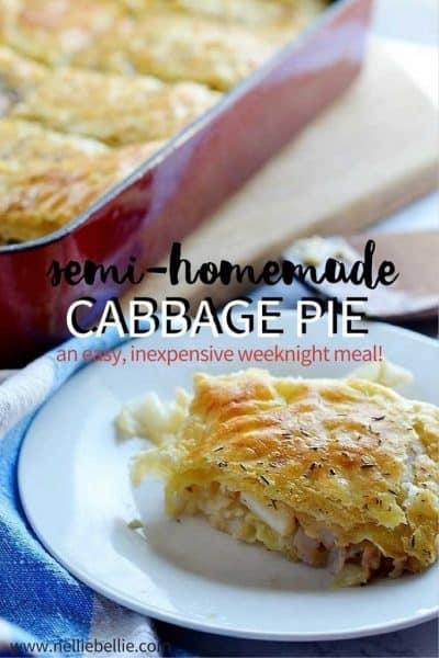 semi-homemade Cabbage Pie