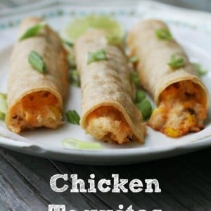 Chicken Taquitos (kind of like the gas station kind, except fresher!) Click through for recipe.
