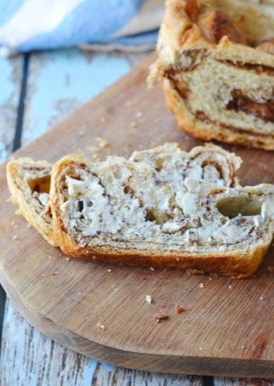 semi-homemade Cinnamon Swirl Almond Butter bread