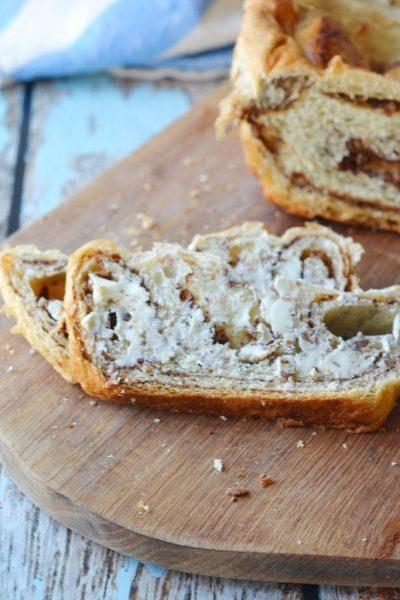 easy Cinnamon Swirl Almond Butter bread (busy mom hack)