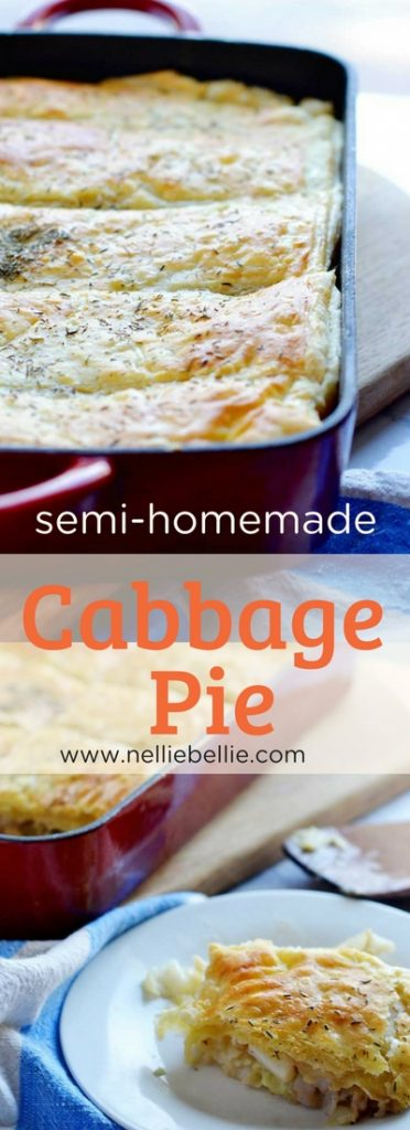 This easy cabbage pie utilizes puff pastry to help keep this comfort food dish easy to make, fast, and inexpensive. Perfect recipe for busy families looking for a bit of comfort food, especially in the winter! A great St. Patrick's Day recipe!