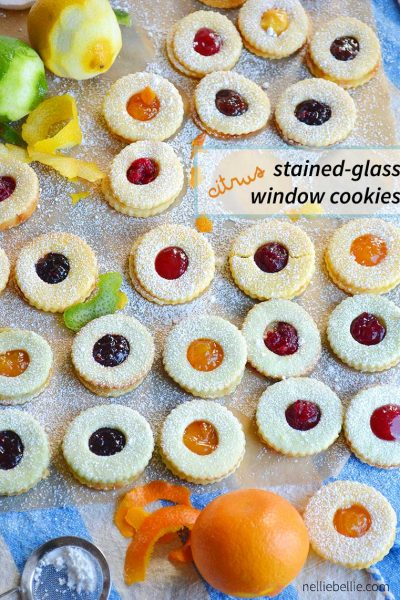 Citrus stained glass window cookies