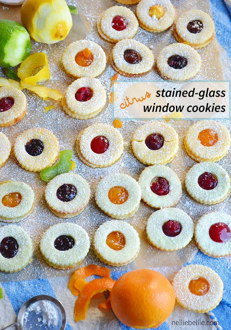 Citrus Stained Glass Window cookies are made with roll-out cream cheese sugar cookies and absolutely delicious! And beaultiful!