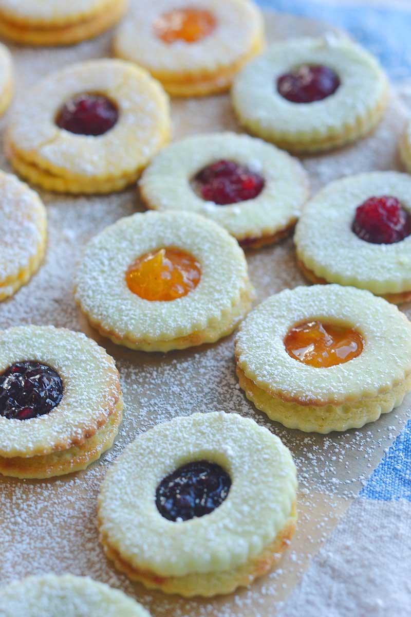 citrus Linzer cookies