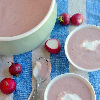 Creamy Radish Soup Recipe