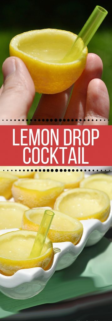 A Lemon Drop Recipe. A bright and refreshing cocktail for the summer! We put ours in the lemon for an extra special, delicious touch. So easy to make!