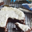 """Vegan Beet Chocolate cake with Coconut """"butter""""cream frosting is a fudgy, sweet cake that is absolutely delicious!"""
