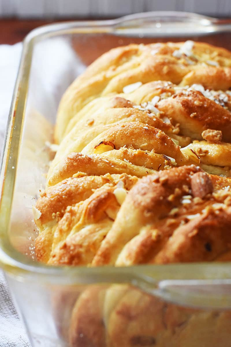 baked Pull-Apart almond bread