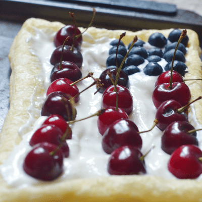 Lazy Baker Patriotic Fruit Tart