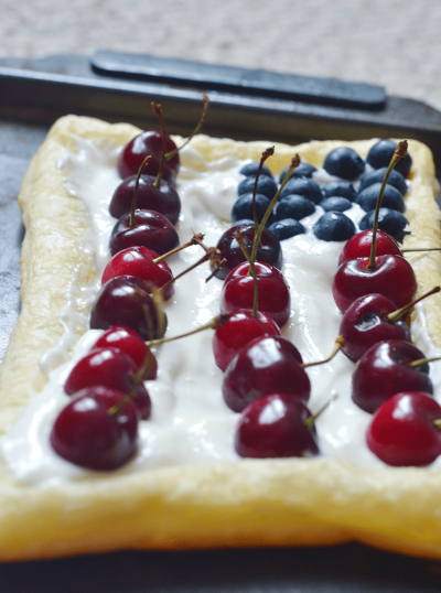 semi-homemade Patriotic Fruit Tart