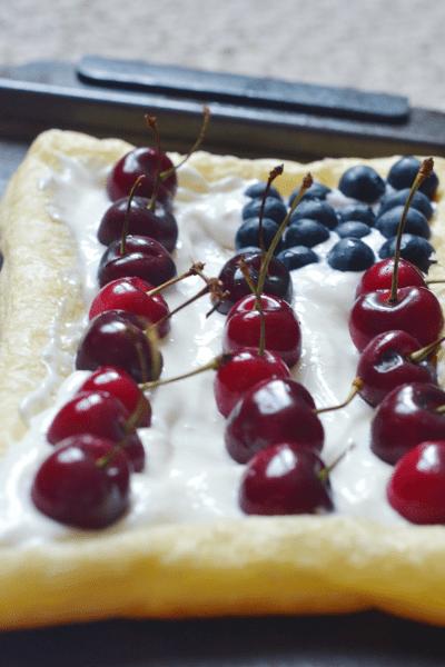 Lazy Baker Patriotic Fruit Tart