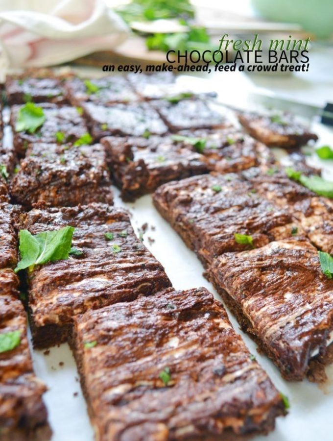 Fresh mint chocolate bars are a refreshing summer bar perfect for picnics and get togethers.